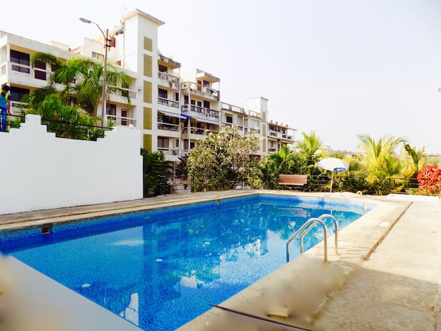 3bhk Scenic independent house with pool in Goa - Alto Porvorim - อพาร์ทเมนท์