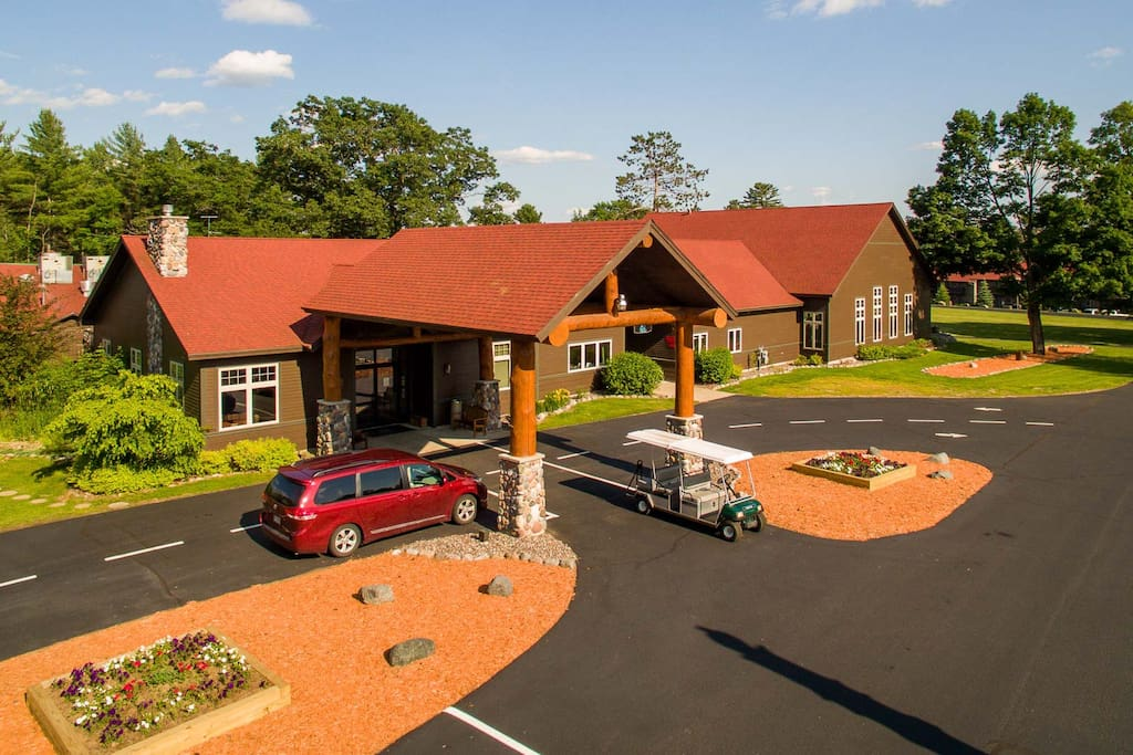 Main lodge and check-in location.