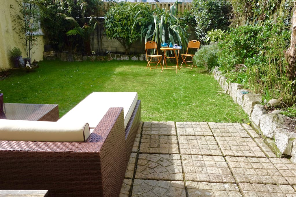 Back garden with plenty seating