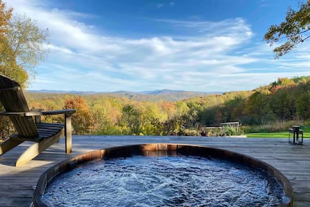 Catskills Cabin on 34 acre Estate  stunning views