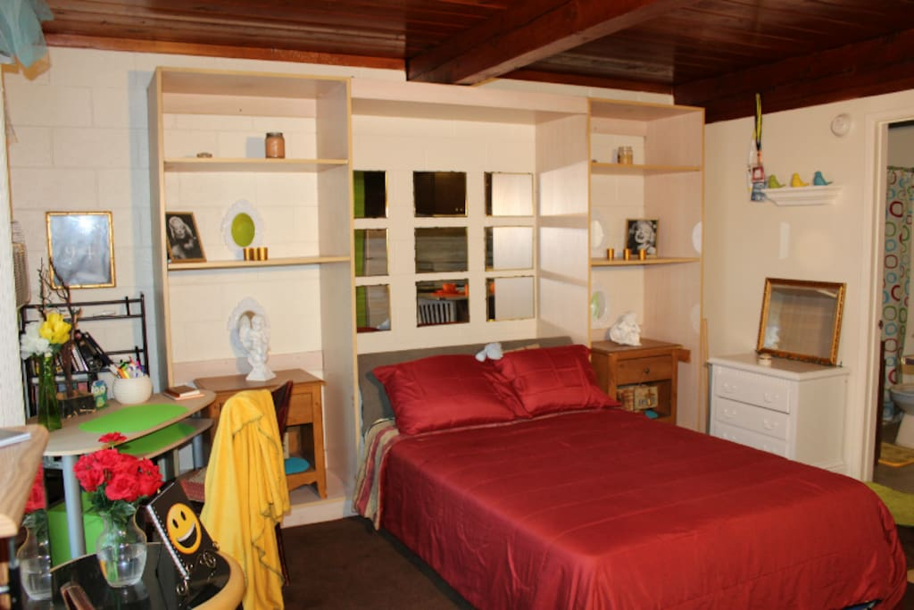 Studio M, Inside view, Vintage murphy bed (Design 1)
