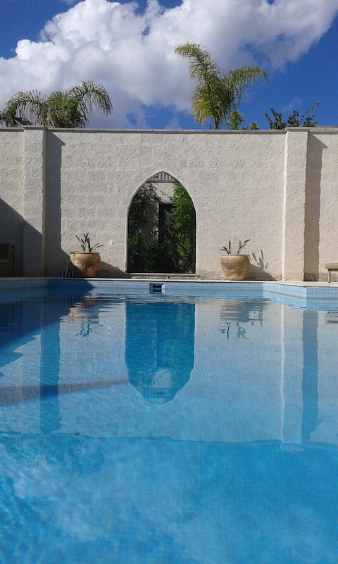 The center of the villa....the pool