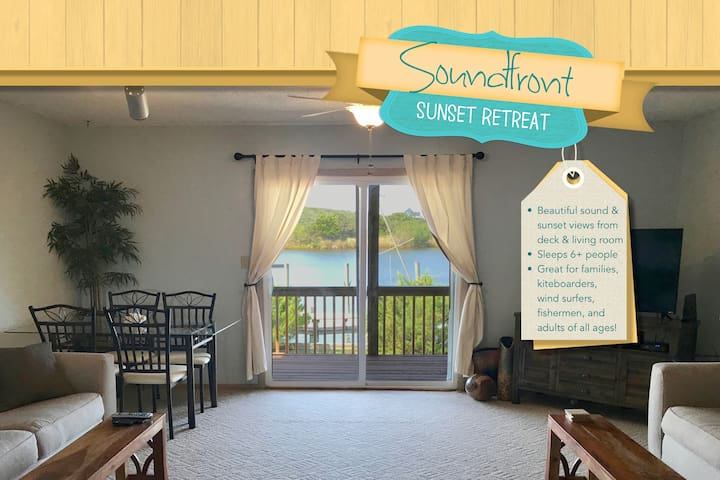 Soundfront Sunset Retreat on Hatteras Island