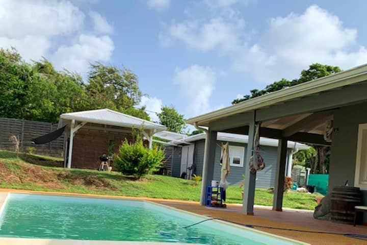 Villa med 8 soverom i Le François med privat svømmebasseng, inngjerdet hage og Wi-Fi - 5 km fra stranden