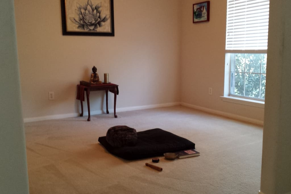 Meditation Space (guest cushions available)