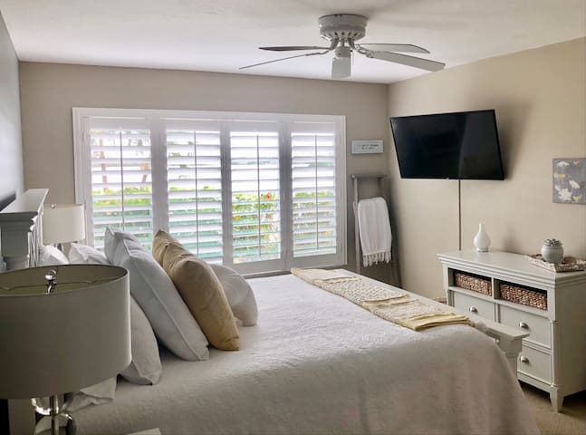 Bedroom with view of Sarasota Bay