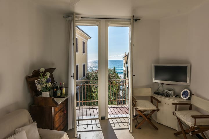 Spacious apartment next to the sea,private garage