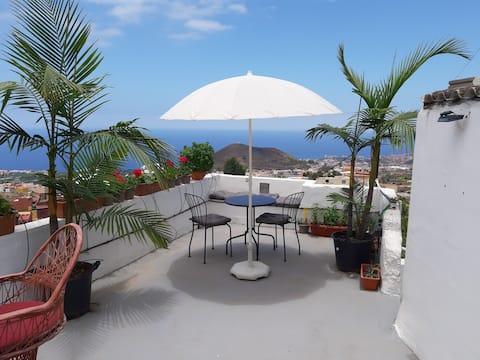 Tenerife Cocoon estudio w/valle/vistas al mar wifi300Mb