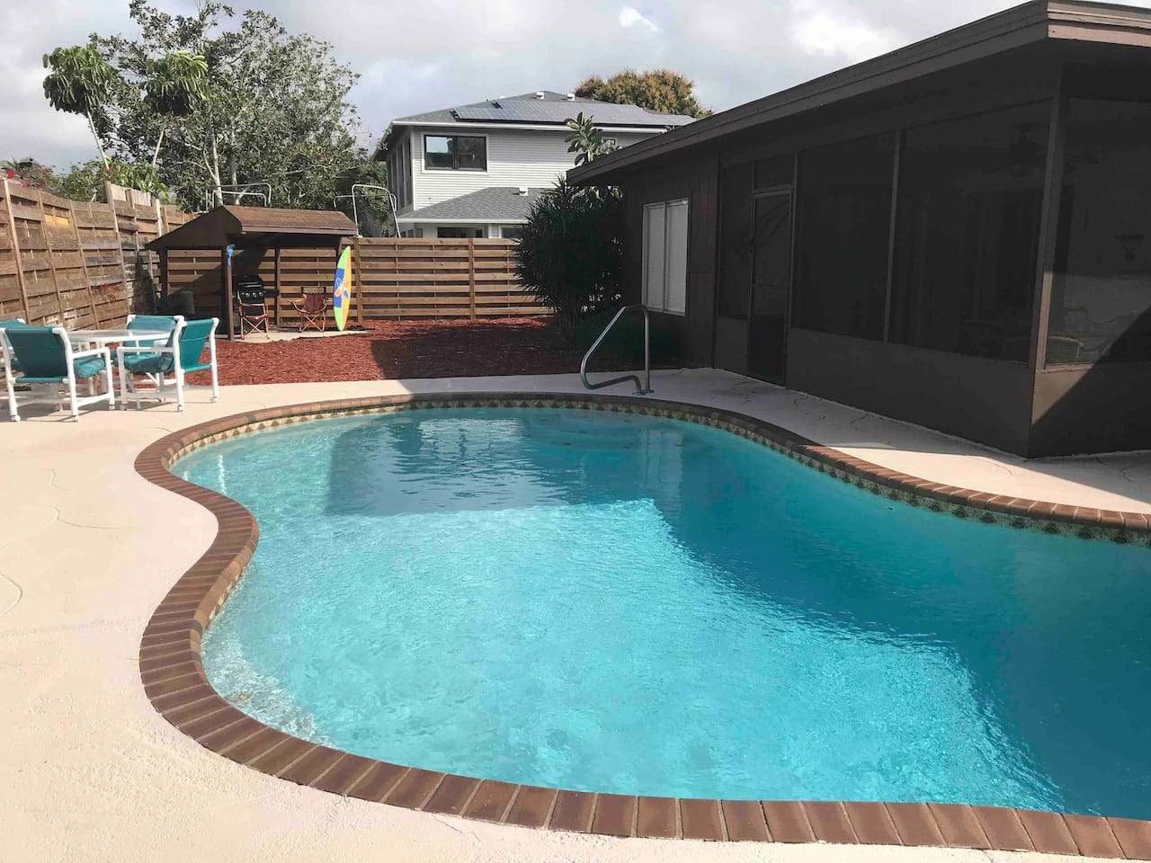 This is why you choose our vacation home. Great neighborhood! Great pool! Great house and Great fun!