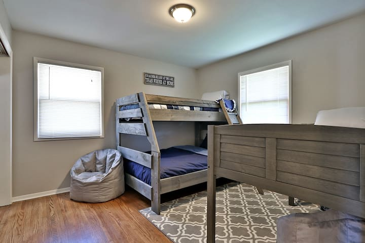 2nd Bedroom with adult and child bunks