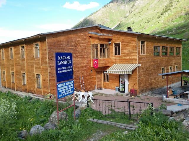 Olgunlar Kaçkar Pansiyon - Yusufeli - Allotjament sostenible a la natura