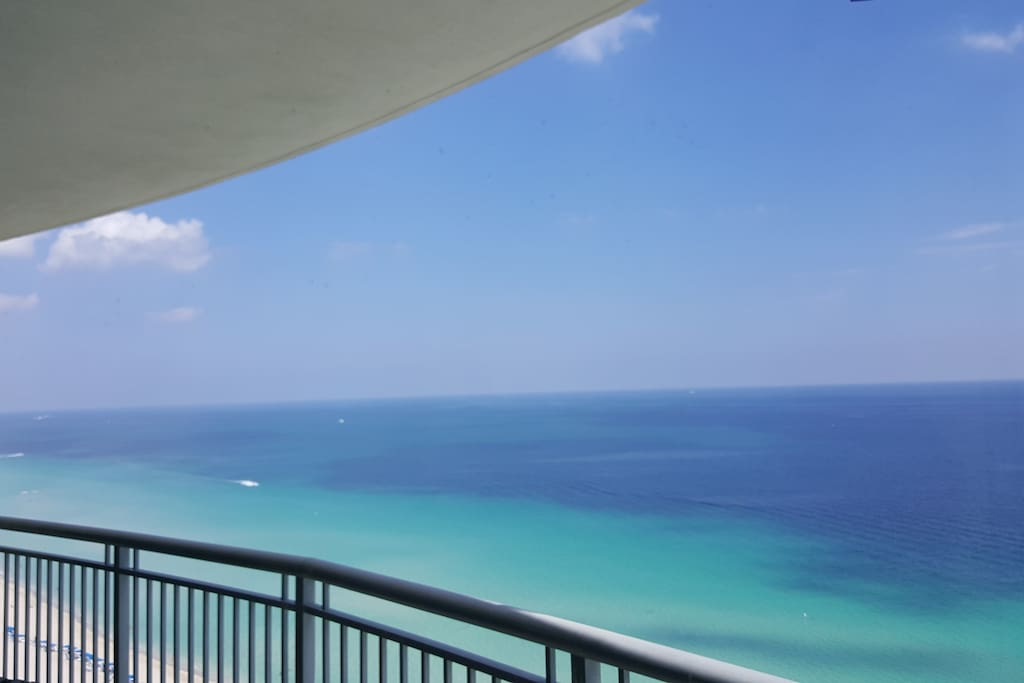 Private ocean front balcony