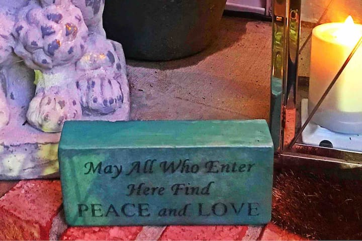 May All Who Enter Here Find Peace and Love