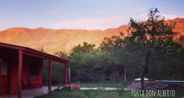 Cabaña serrana eco friendly exclusiva