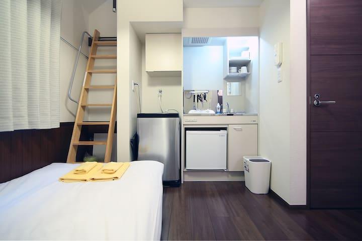 5 Min. To Shinjuku Cozy Studio w/ WiFi (Y202)