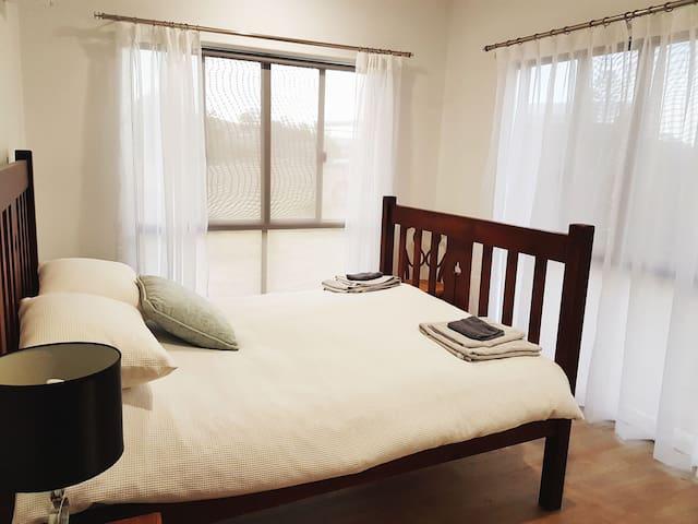 Bedroom 1 with wardrobe