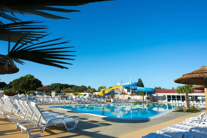 Mobilhome spacieux 5/7 pers camping 4* La Palmyre
