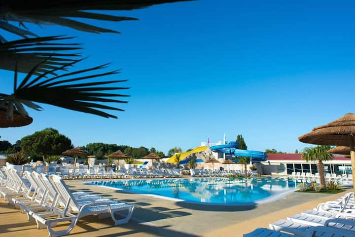Mobile home spacieux 7 pers camping 4* La Palmyre