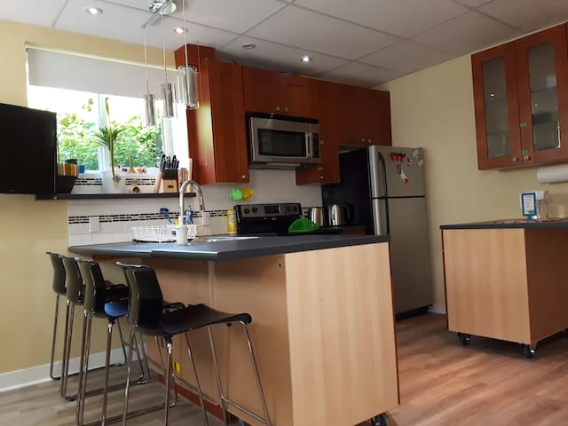 MODERN 2bedrm 2bathrm basement suite:NEAR SKYTRAIN