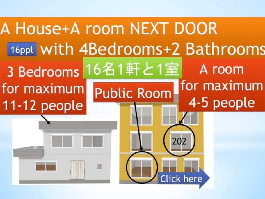You can arrange rooms as you like.