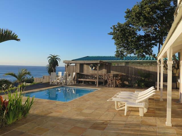 Luxury beach villa with idyllic views
