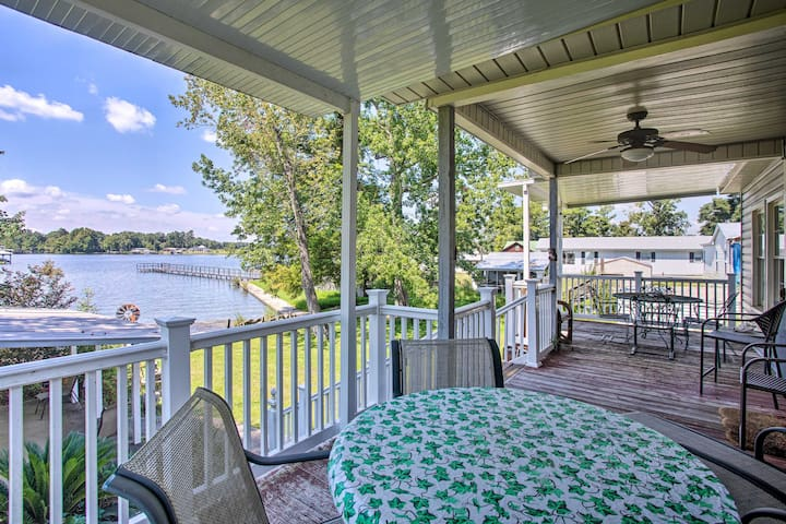 NEW! Fisherman's Lakefront Home w/Boat Lift + Deck