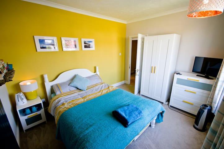 Bright newly refurbished bedroom