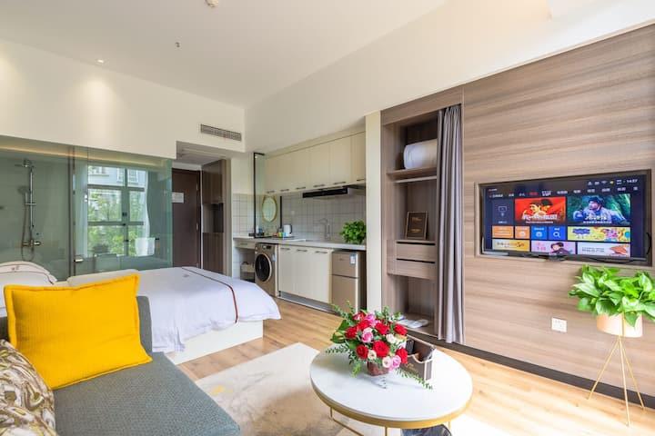 大漂亮的舒适旅居大床房