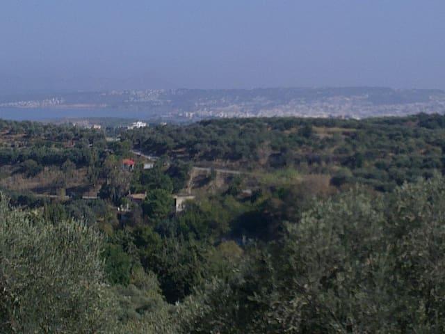 Ιn the village,Crete  -  Oικια με σοφιτα στο χωριο - Stalos - Lägenhet