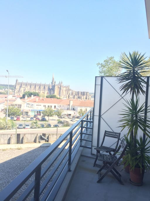 View from the living room to the Batalha monastery