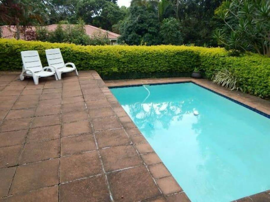 Pool to enjoy on hot sunmer days