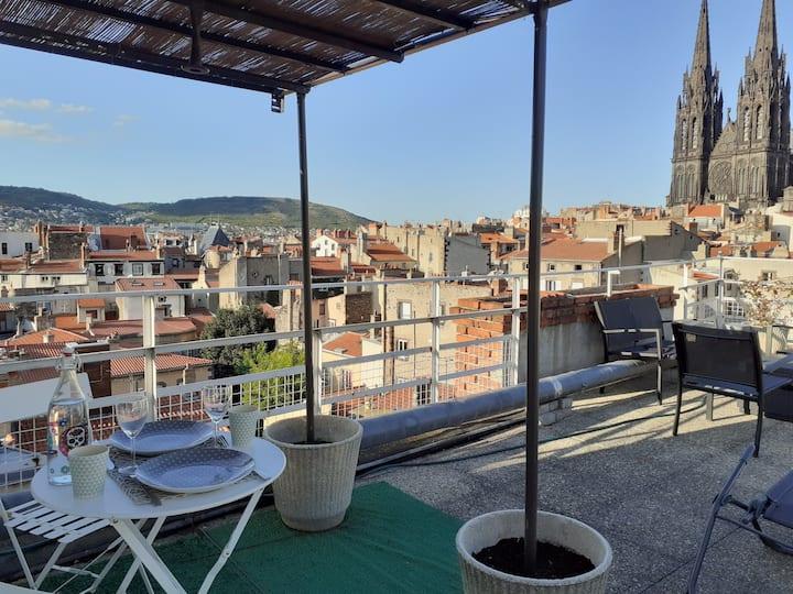 Clermont-ferrand - hyper centre - roof top - Jaude