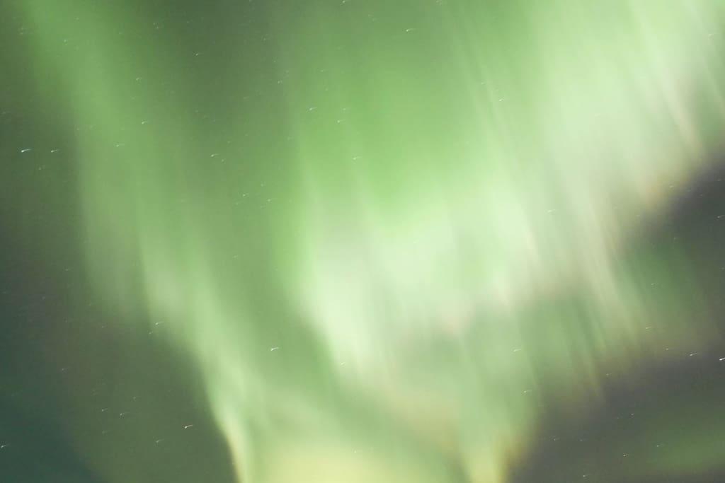 The aurora borealis over the winter