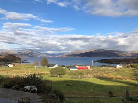 Isleornsay croft with a wonderful view