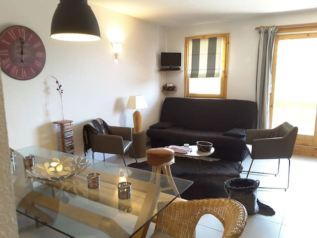 renovated and sunny apartmentPeisey vallandry - between LES ARCS ans LA PLAGNE -PARADISKI
