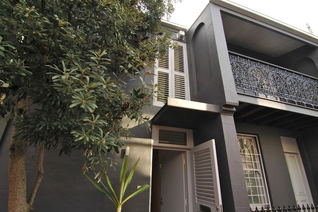 Front of double terrace house