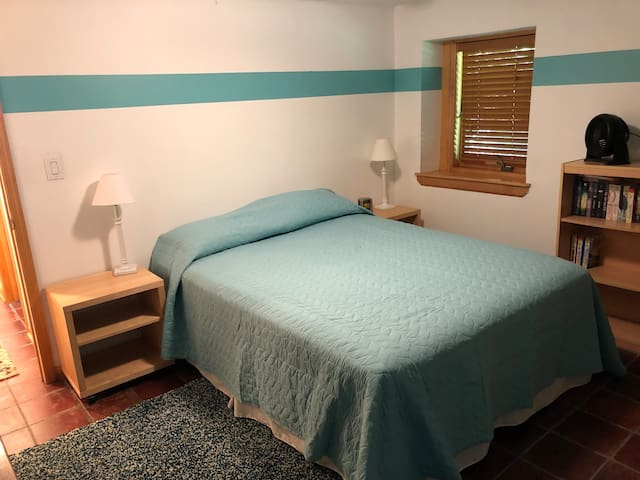 2nd Bedroom (on the lower level) features a comfortable queen-sized bed