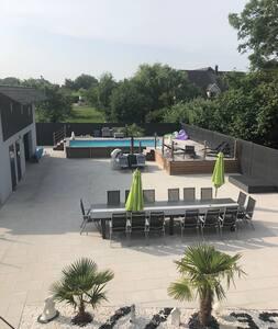 Location maison bi famille avec piscine en ALSACE