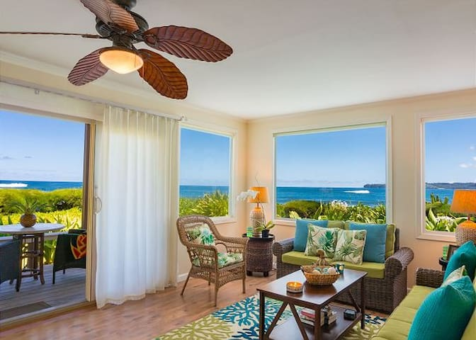 Hanalei Colony Resort Premium Oceanfront Condo