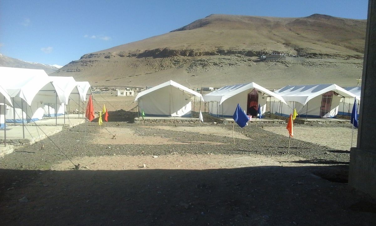 View Photos & Lotus Camp and Restaurant - Tents for Rent in Leh Jammu and ...