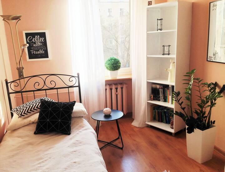 Przytulny pokój w centrum miasta