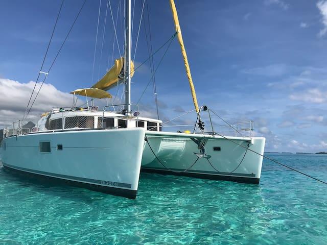 Catamaran à voile Lagon de Raiatea Taha'a