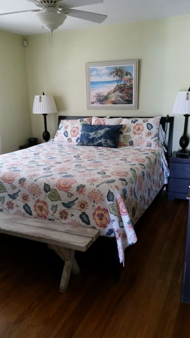 master bedroom, firm king bed