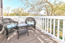 Open deck area for relaxing
