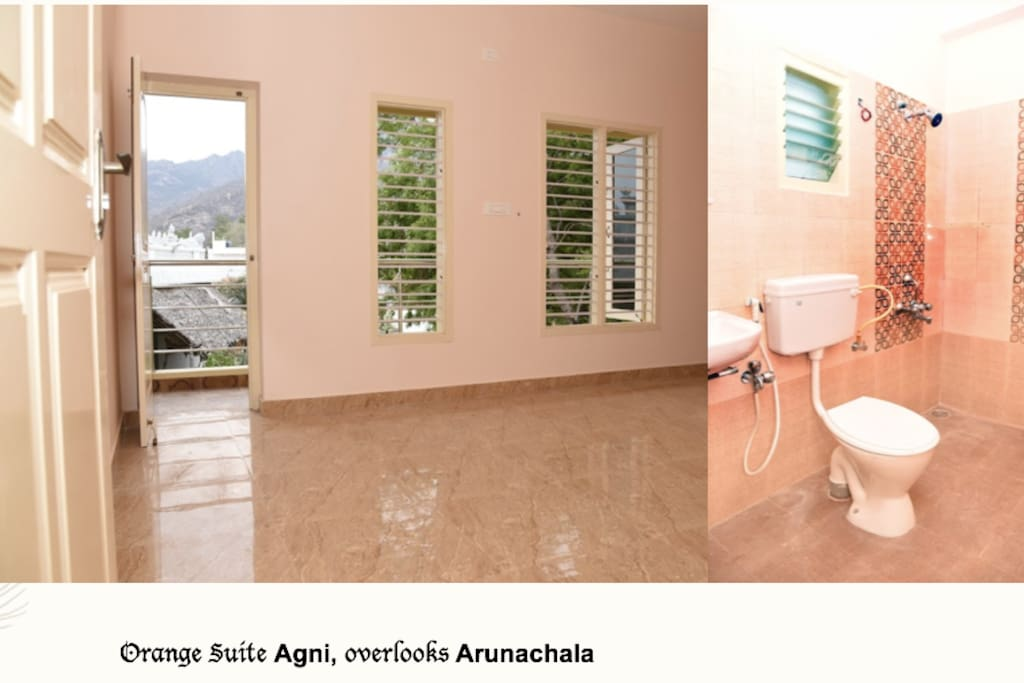 Orange Suite, overlooks Arunachala