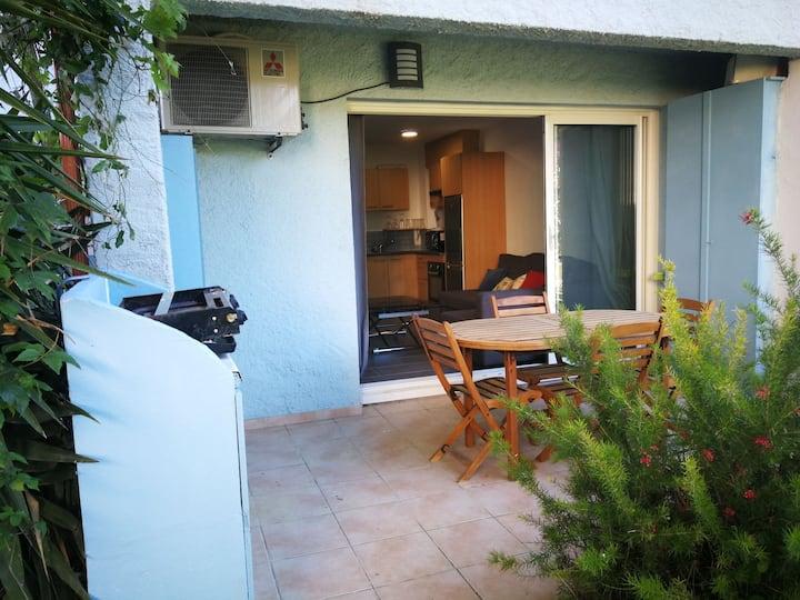 T2 climatisé dans résidence d'exception 3 piscines