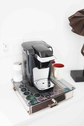 Complimentary Keurig and k-cups provided.