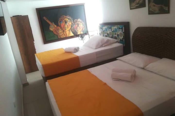 Habitación privada de 3 camas