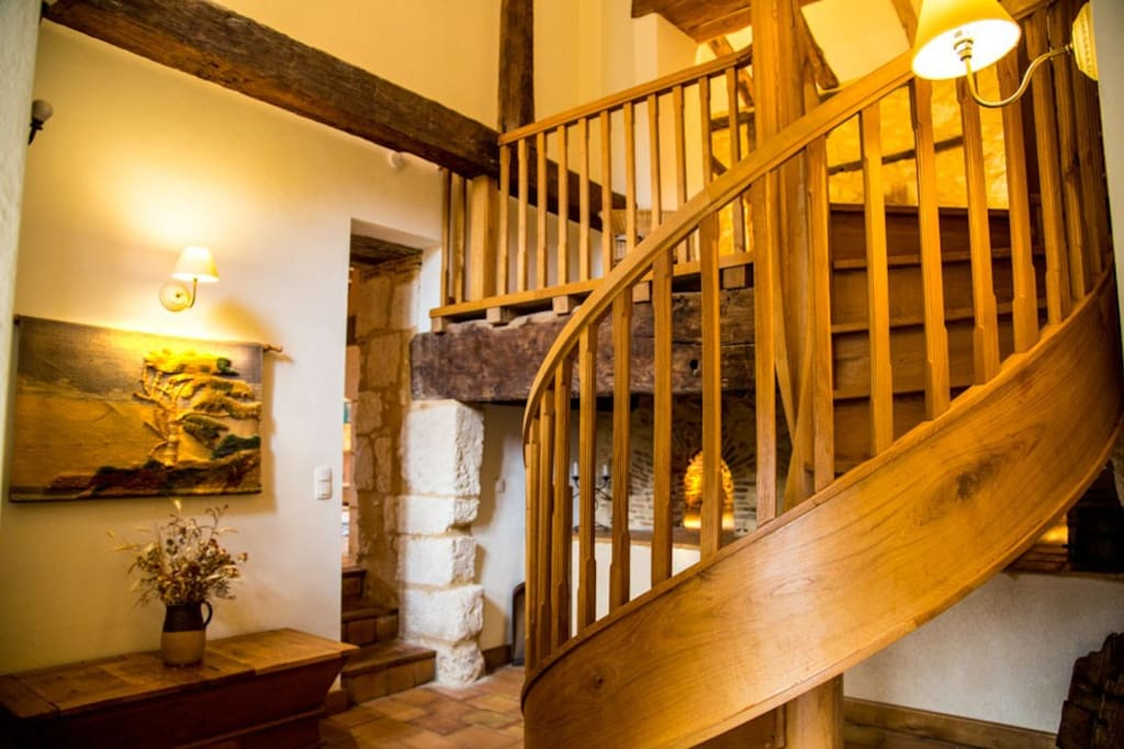 The hand built spiral staircase