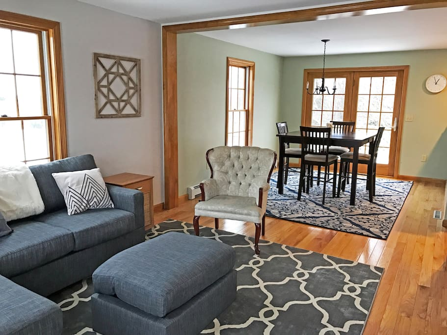 Main floor living room and dining